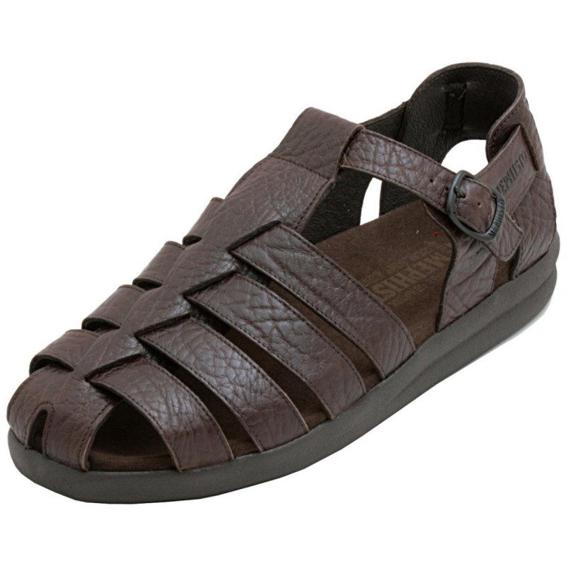 d4f42c36c71 Mephisto Sam. Classic Fisherman Sandal design. Previous. Black Smooth   Black Grain  Dark Brown Grain ...