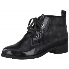 Dark Grey Patent Effect Ankle Boot 25120-35