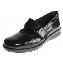 Florence - Black Crinkly Patent
