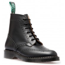 Black 6 Eye Derby Brogue Boot