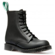 8 Eye Derby Boot - Black Greasy