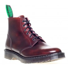 6 Eye Derby Boot Burgundy - Hi Shine