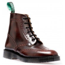 Burgundy 6 Eye Derby Brogue Boot - Hi Shine