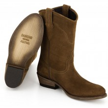 Sancho Abarca Boots 2294 Brownie Serra Prin Brown 102