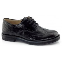 G4130001-5 Black Patent School Shoe