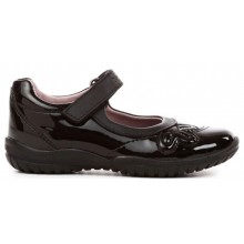 Geox Shadow J1329B School Shoe Black Patent