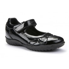 Geox J54A6A Shadow Black Patent