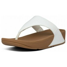 Lulu Leather Toe Post - White