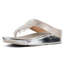Rumba Toe Thong - Metallic Silver
