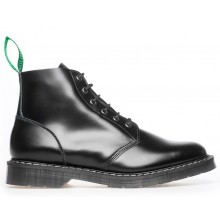 6 Eye Derby Boot Black - Hi Shine
