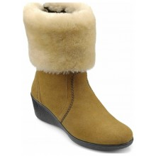 Brandy Cream Suede/Sheepskin