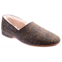 Draper of Glastonbury Lewis in Earth Harris Tweed