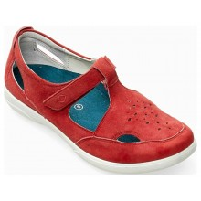 Whistle Red Suede