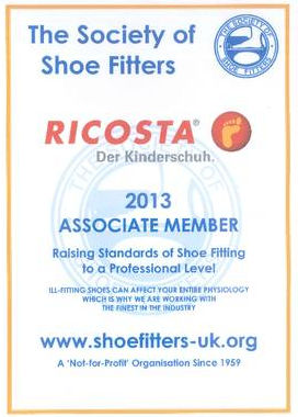 Associate membership of the Society of Shoe Fitters