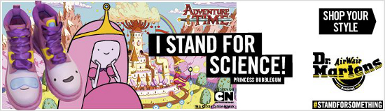 Adventure Time with Dr Martens #standforsomething / #istandforscience
